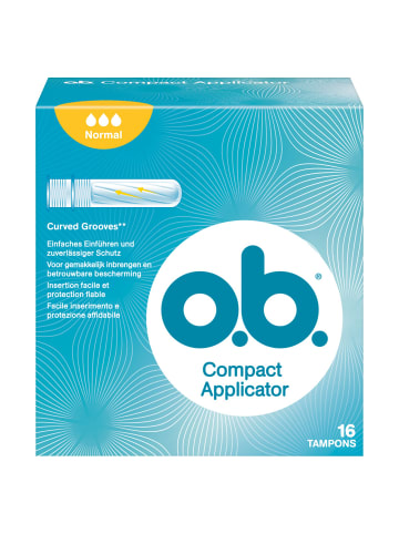"O.b. Tampons ""Compact Applicator Normal"" ‒ 16 Stück"