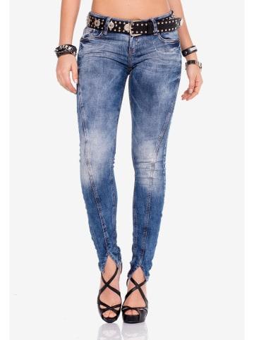Cipo & Baxx Röhrenjeans in Blue Jeans-Black