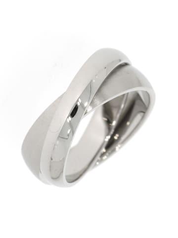 """Gooix Ring """"2-teilig mattiert / poliert"""" in silber"""