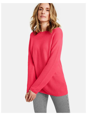Gerry Weber Pullover Langarm Rundhals in Rot