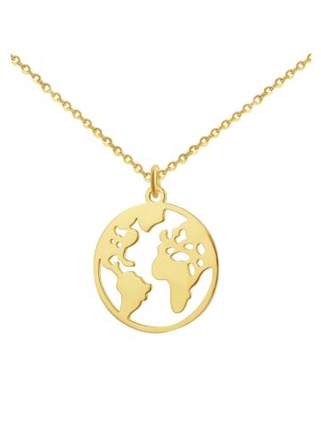 GOOD.designs Edelstahlkette Weltkette in gold