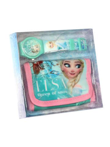 """Disney Frozen 2-tlg. Set: Uhr und Geldbörse """"Eiskönigin"""""""
