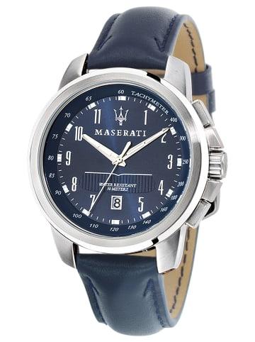 Maserati Successo Herrenuhr Blau / Schwarz / Silber
