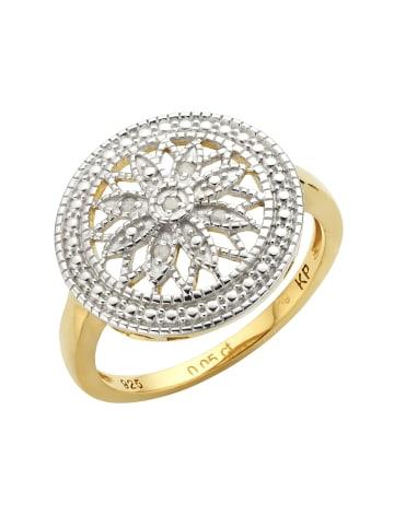 Diamonds by Ellen K. Diamantringe 925/- Sterling Silber in gelb