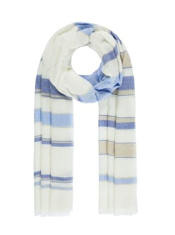Passigatti Schal mit gewebten Streifen in ensign blue