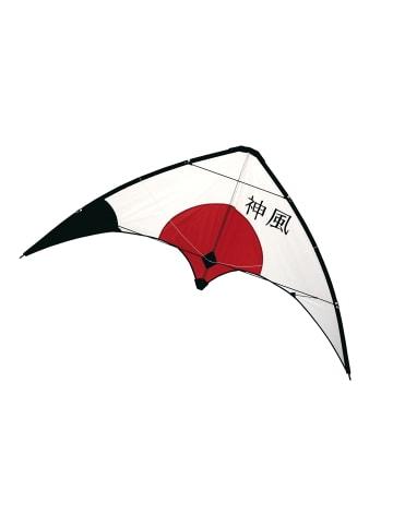 Rhombus Lenkdrache Kami Kaze Carbon in Weiß/Rot/Schwarz