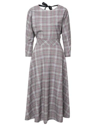 MaDam-T Skaterkleid Kleid Asuana in grau/ weinrot