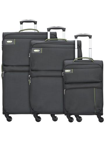 D&N Travel Line 6704 4-Rollen Kofferset 3tlg. in grau