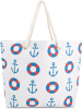 Normani Sommer-Umhängetasche, Strandtasche in Seaside Blue
