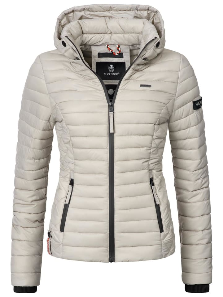 Steppjacke Samtpfote in Light Grey