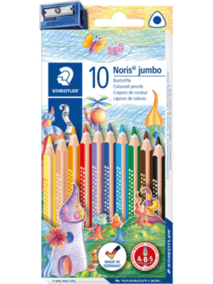 60 dicke Jumbo Dreikant-Buntstifte 12 verschiedene Farben