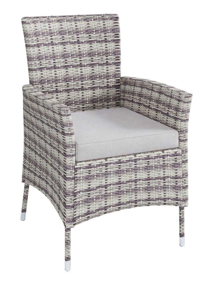 Rattan Gartenmöbel Set 140x90 In 4 Stühle 1 Tisch Grau Günstig Kaufen Limango