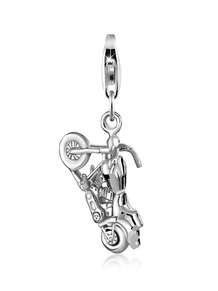 Anhänger Motorrad mit Karabinerverschluß 925 Sterling Silber Charm