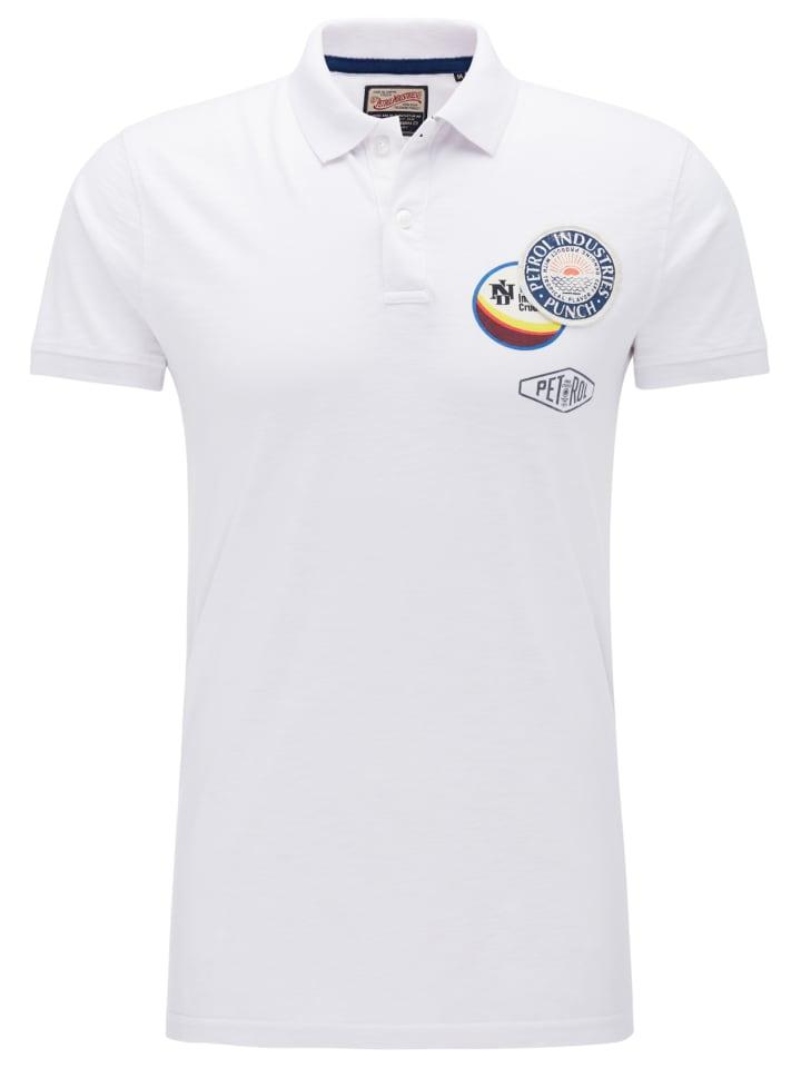 factory authentic f368b b3cbc Petrol Industries Polo Shirt in Bright White günstig kaufen ...