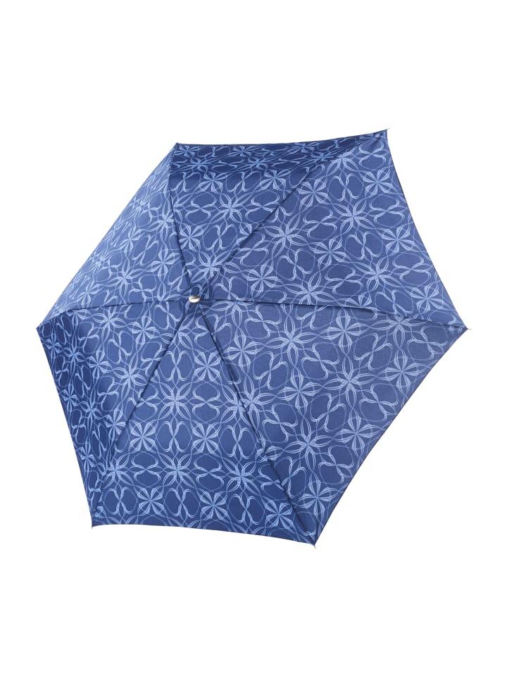 Doppler Regenschirm Carbonsteel Mini Slim Bloom Blue