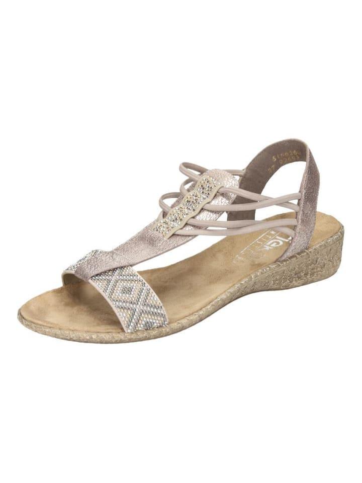 Klassische Sandaletten in beigerose