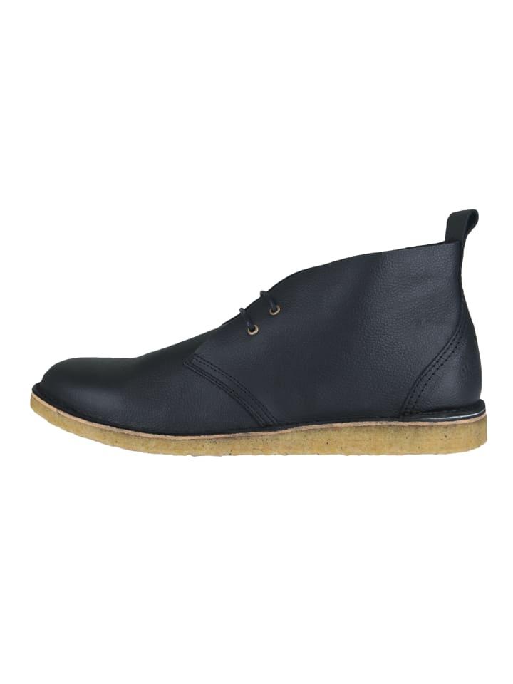 Ekn footwear Schnürschuh Max Herre Black Leather Crepe Sole