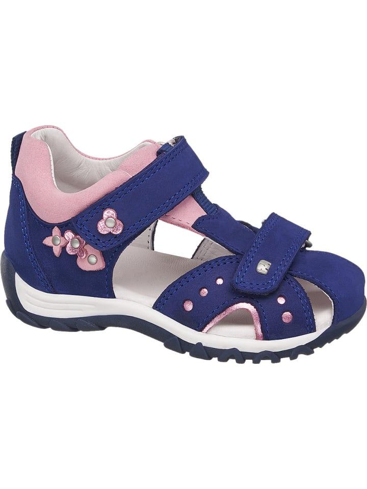 Mädchen Sandale, Weite Mittel blau