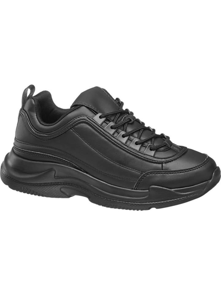 Damen Chunky Sneaker schwarz