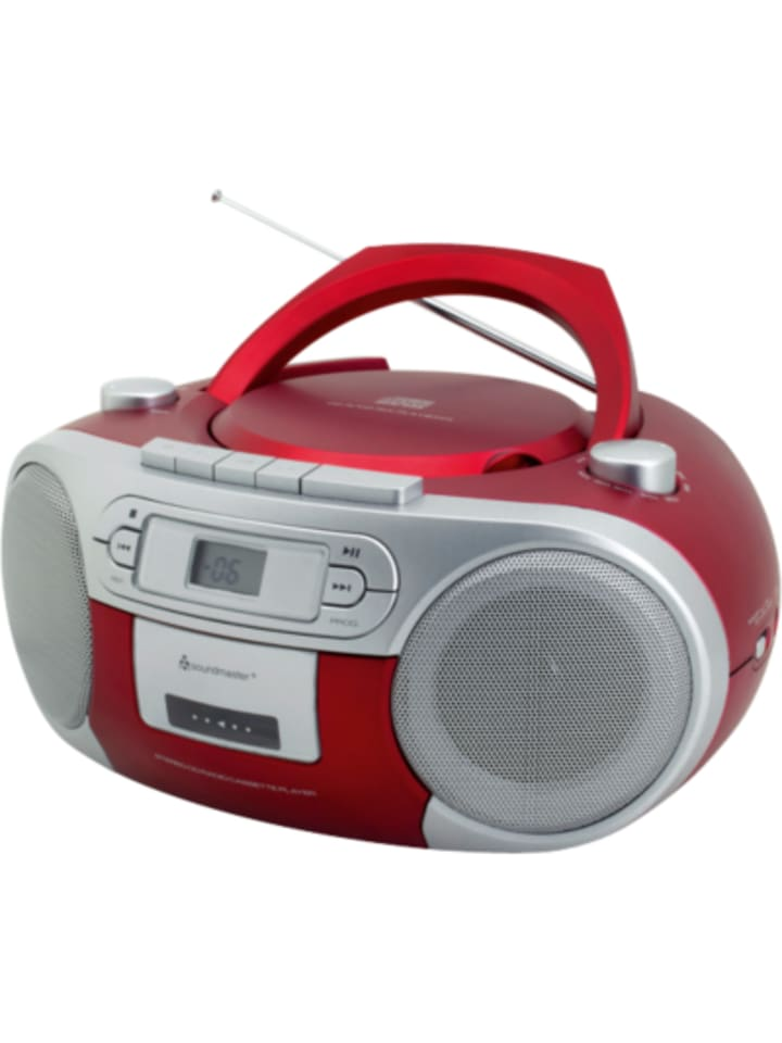 soundmaster cd player mit radio und kassettenspieler rot g nstig kaufen limango. Black Bedroom Furniture Sets. Home Design Ideas