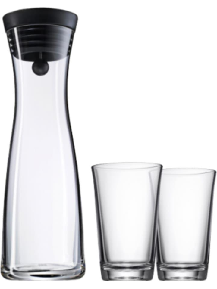 wmf set basic glas karaffe 1 l 2 wassergl sern a 0 25. Black Bedroom Furniture Sets. Home Design Ideas