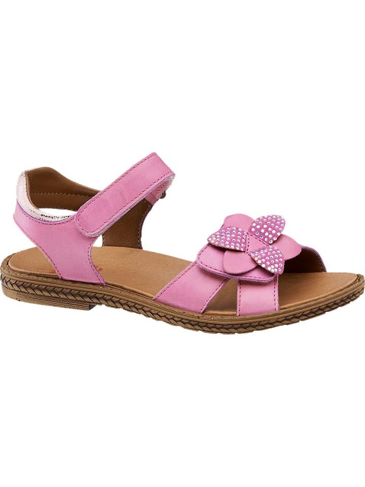 Mädchen Sandale, Weite Mittel fuchsia