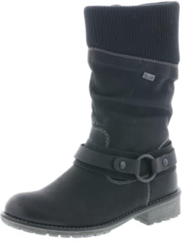 Schwarz Rieker Stiefel Boots Weben Schnürstiefelette