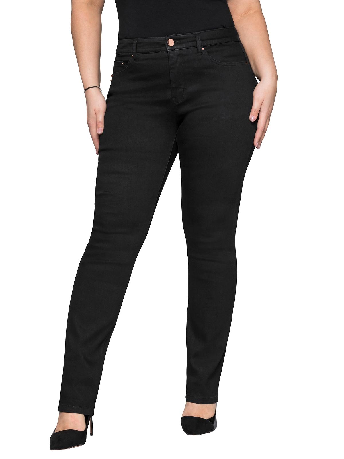 Sheego Jeans in black Denim günstig kaufen