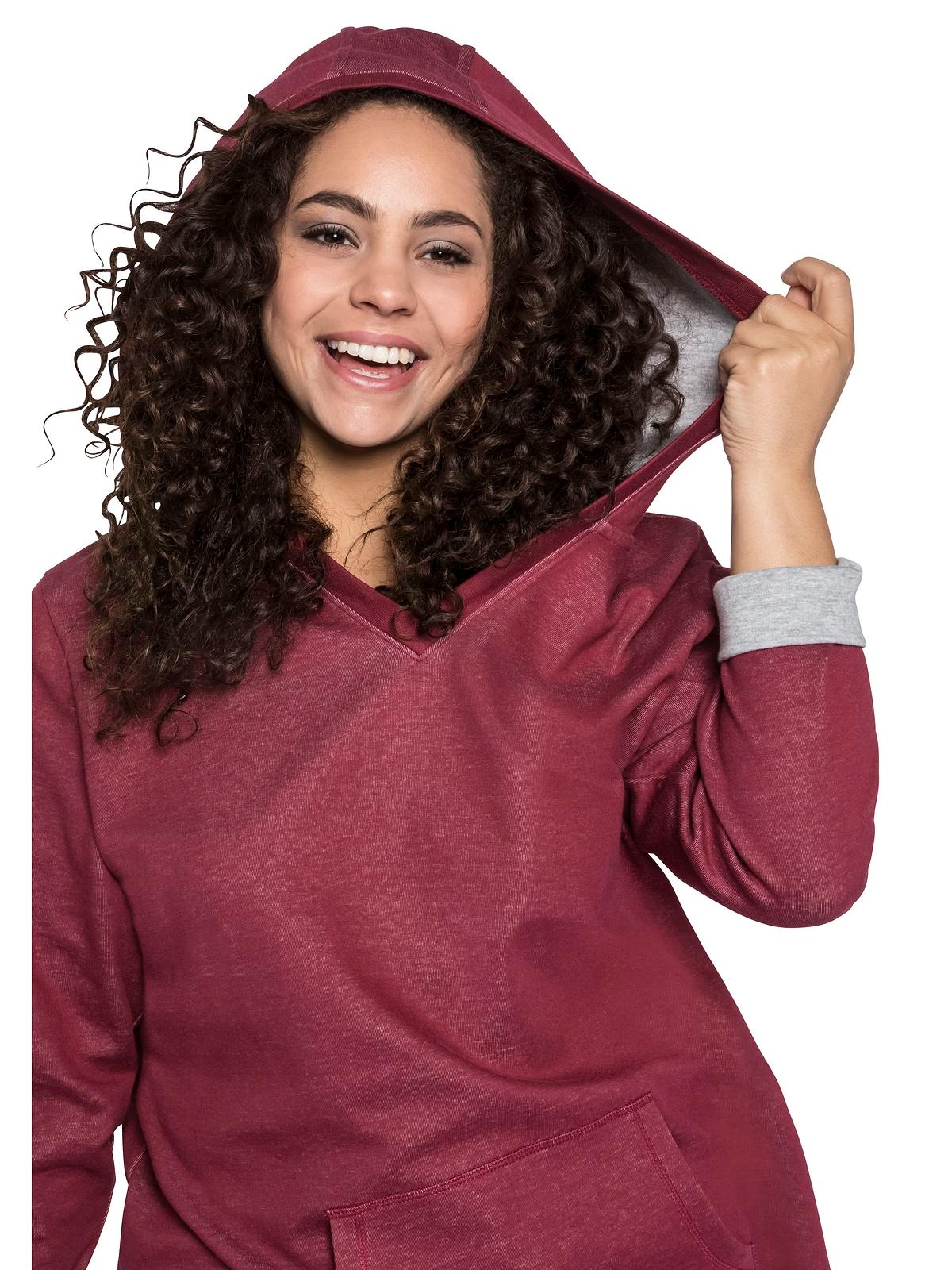 Sheego Sweatkleid in rubinrot günstig kaufen