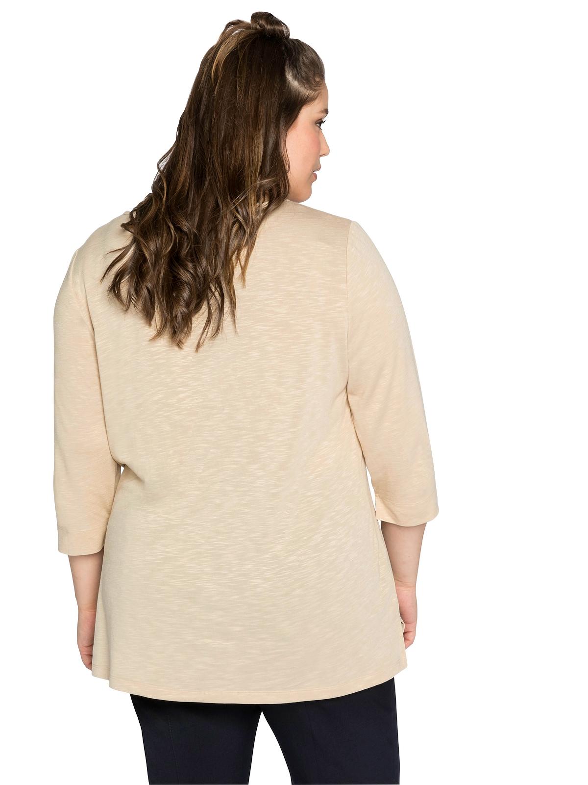 Sheego Shirt in beigefarben günstig kaufen