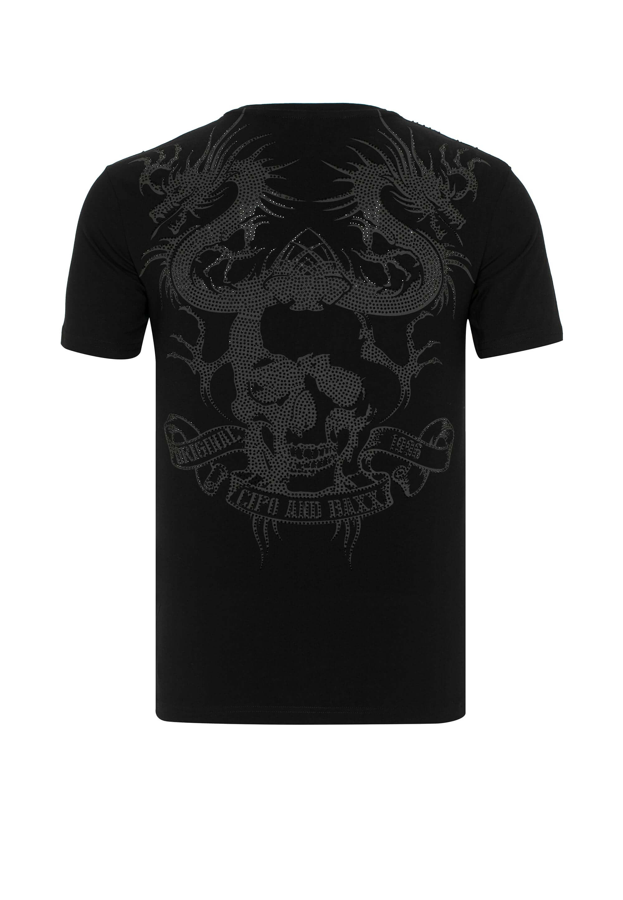 Cipo & Baxx T-Shirt Yakuza Dragon in Black günstig kaufen