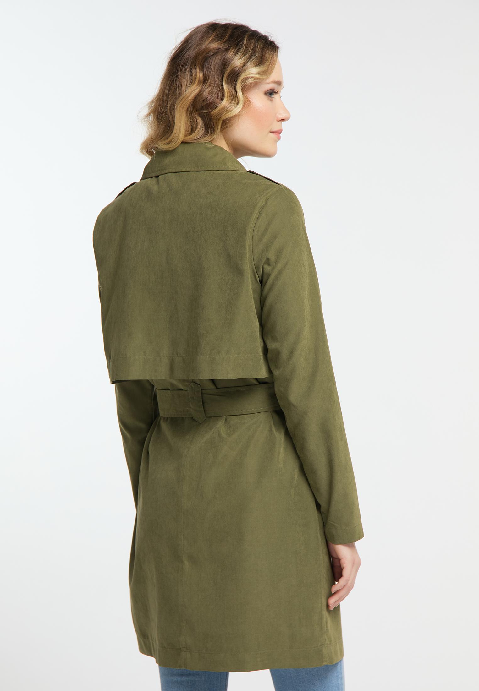 DreiMaster Klassik Cupro Trenchcoat in helloliv günstig kaufen