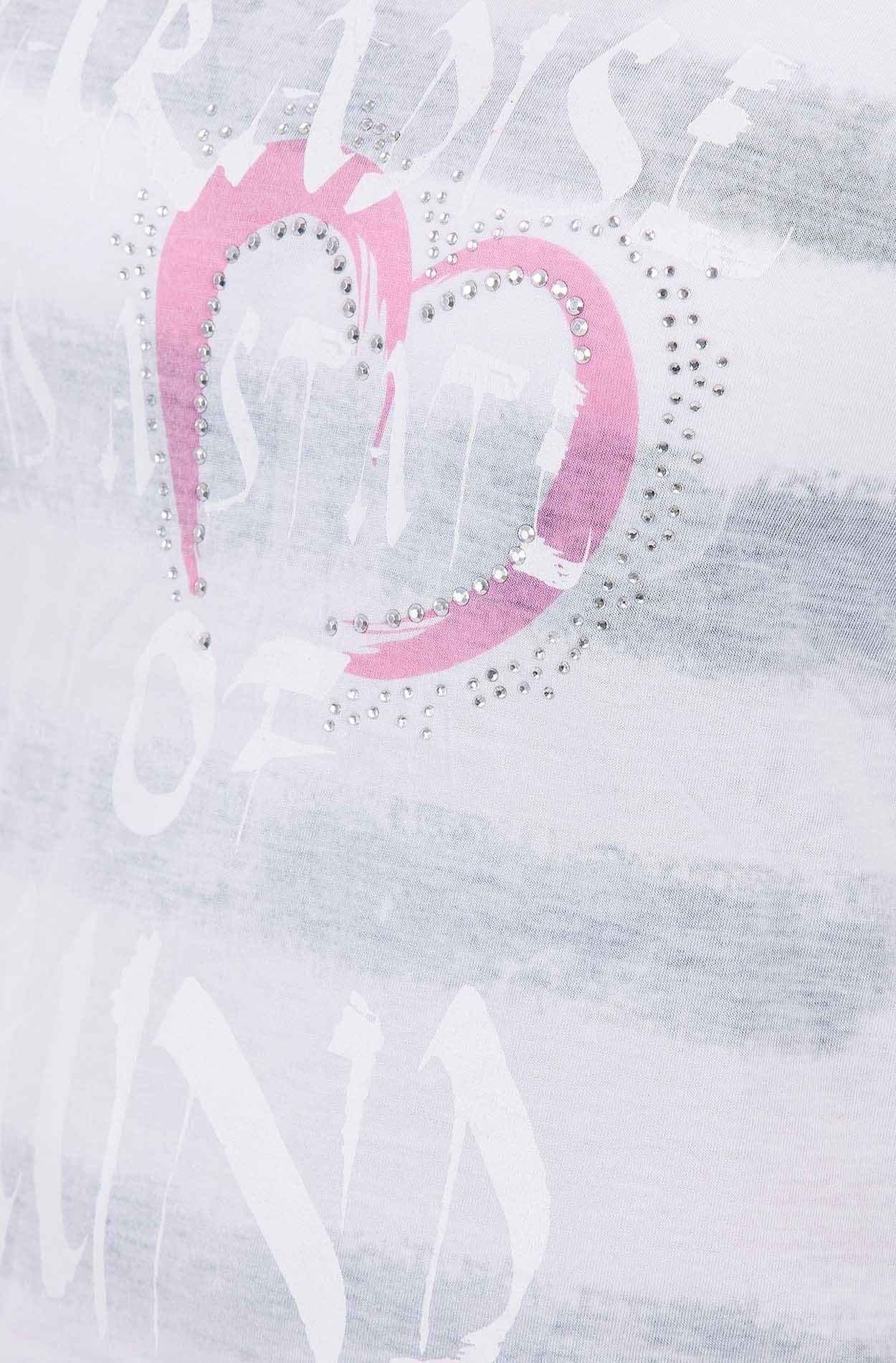 BLUE MONKEY T Shirt mit Print in weiß günstig kaufen