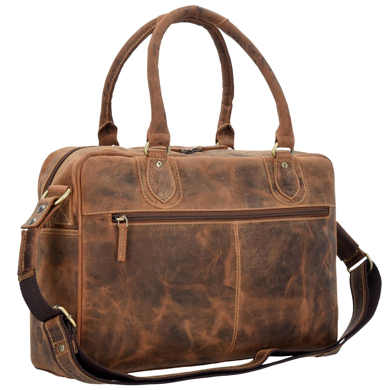 Greenburry Vintage Handtasche Leder 40 cm in vintage günstig kaufen