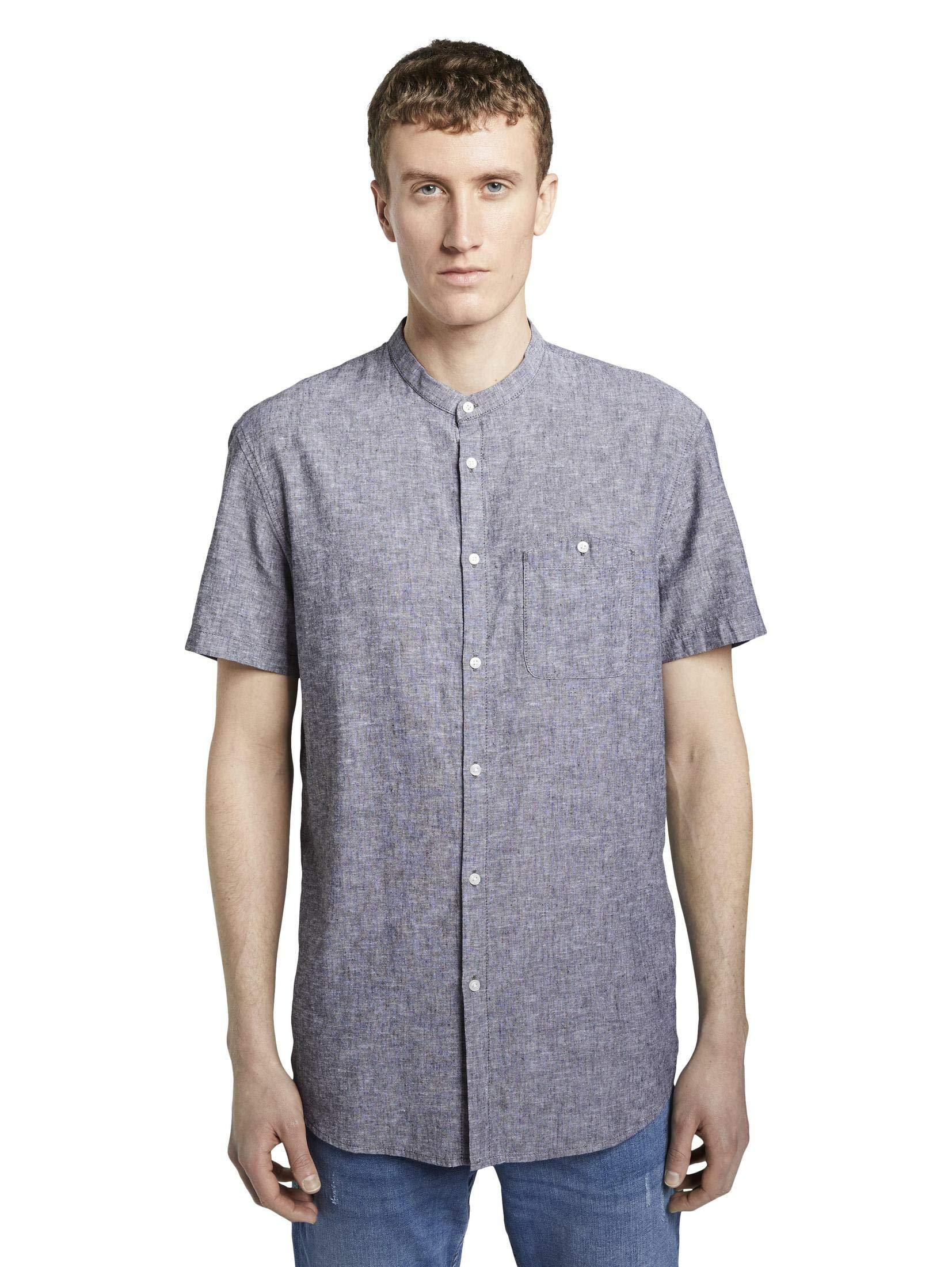 Tom Tailor Kurzarm Freizeithemd in schwarz günstig kaufen