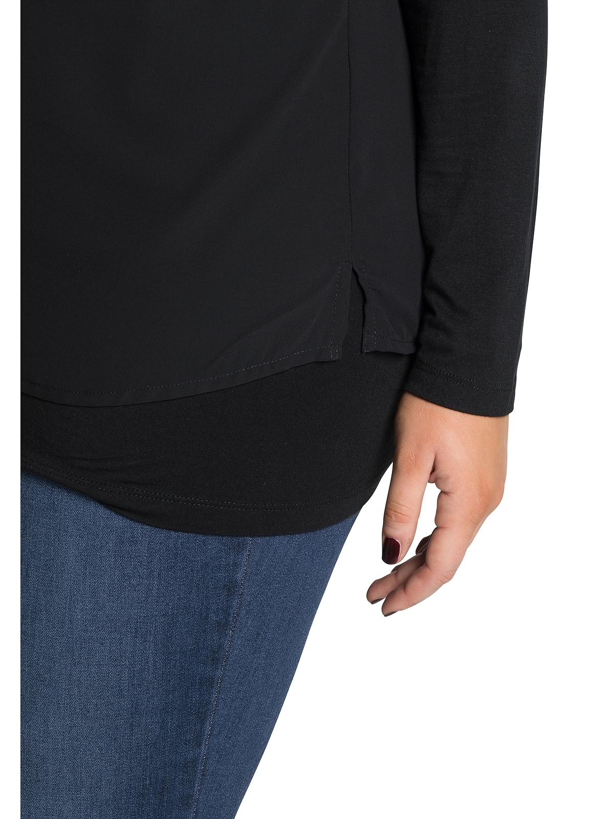 Sheego Blusenshirt in schwarz günstig kaufen