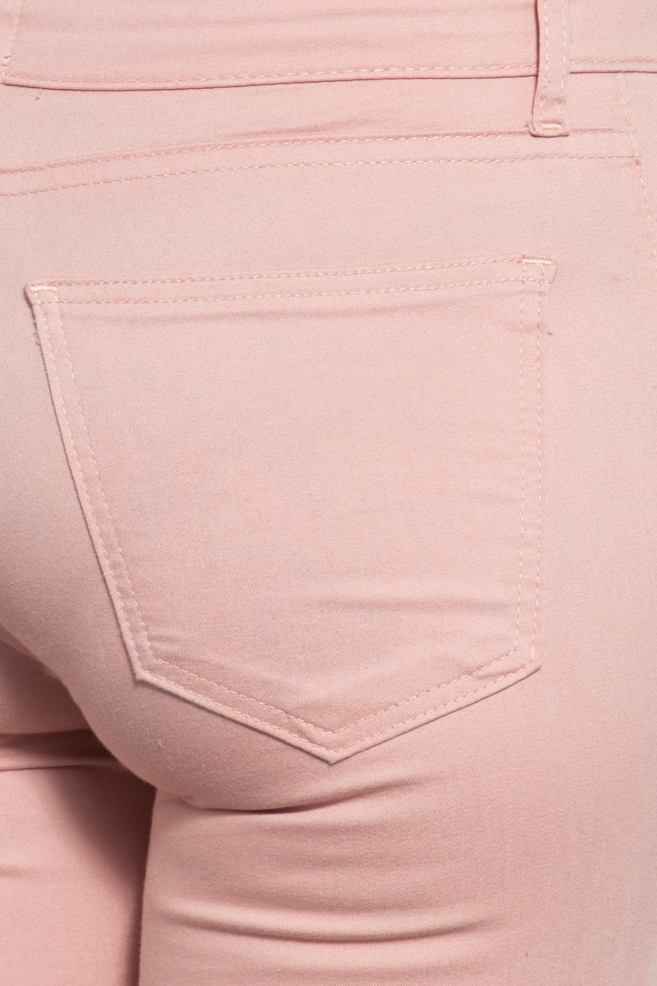 Way of Glory Damenjeans im schlichten 5-Pocket-Design mit gekürzter Beinlänge in apricot günstig kaufen