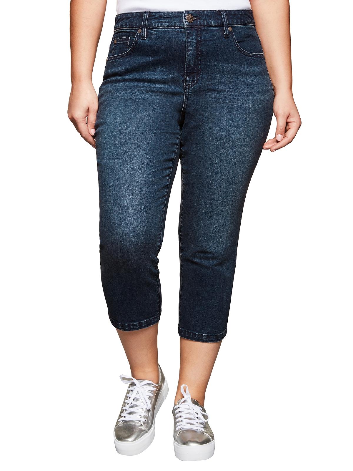 Sheego Jeans in dark blue Denim günstig kaufen