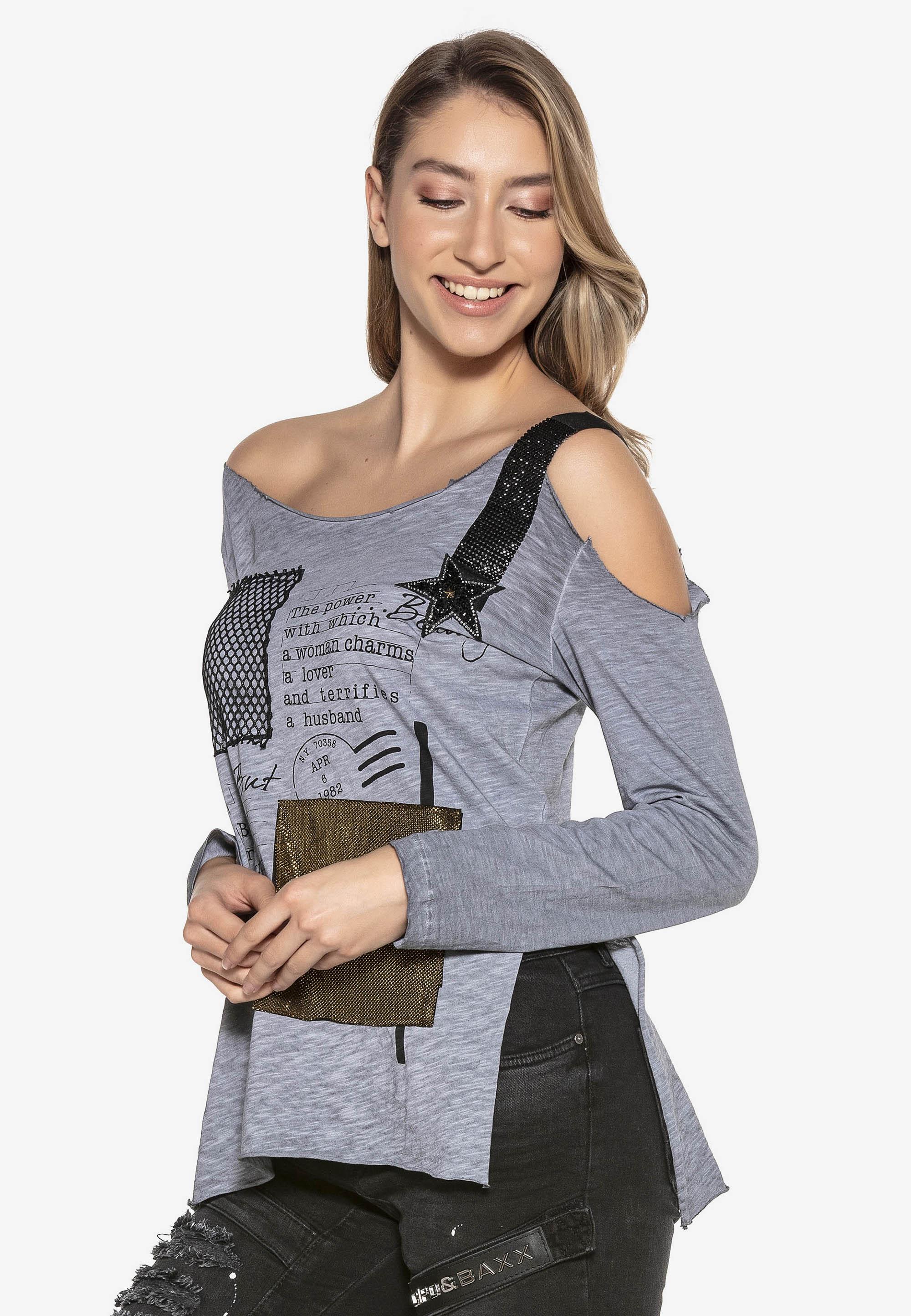 Cipo & Baxx Sweatshirt in Grey günstig kaufen