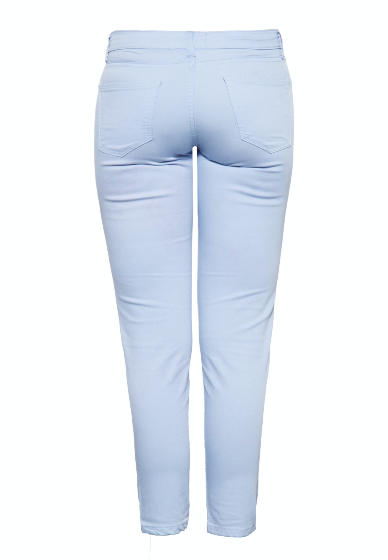 Way of Glory Damenjeans im schlichten 5-Pocket-Design mit gekürzter Beinlänge in hellblau günstig kaufen