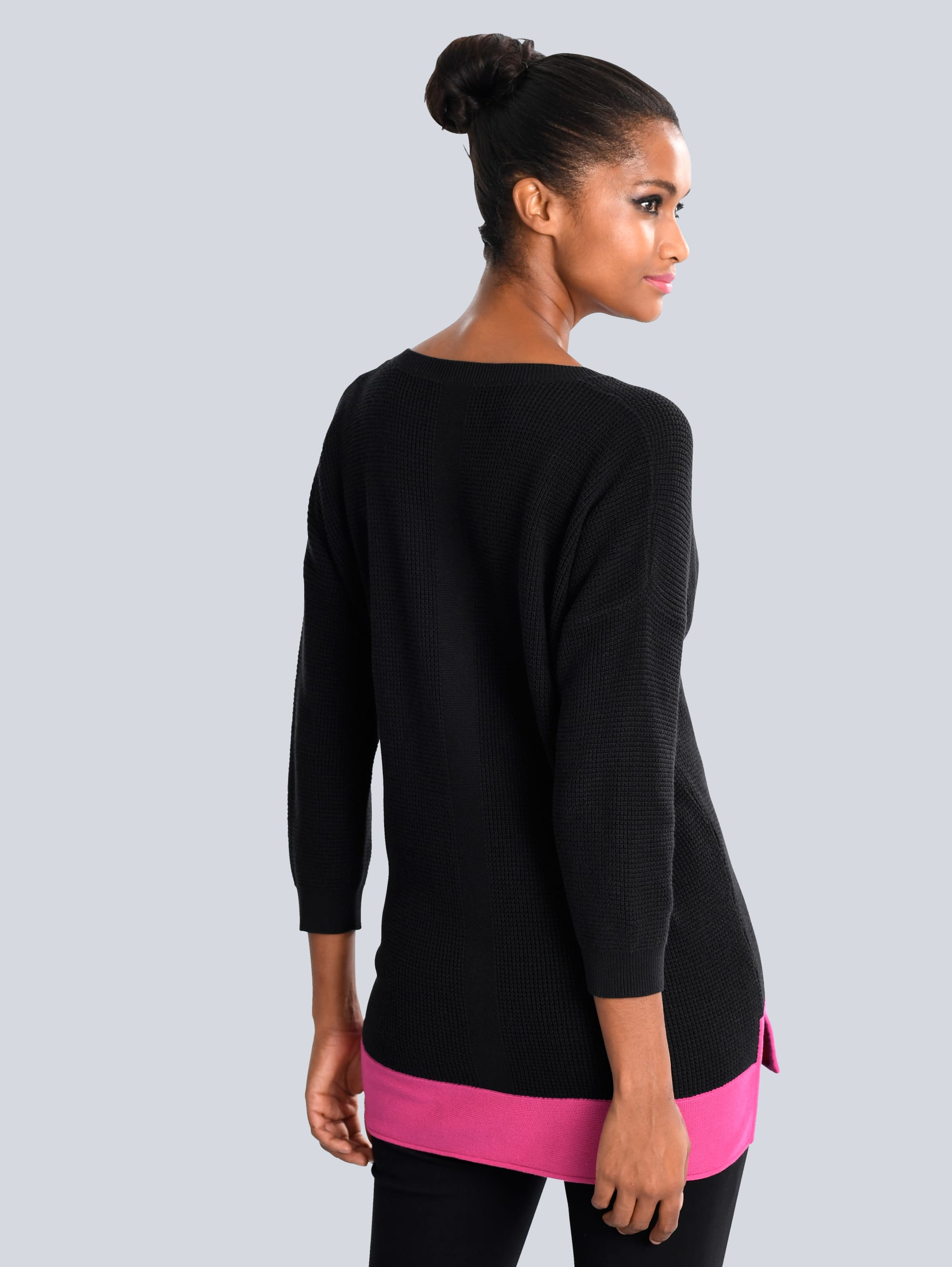 Alba Moda Pullover in Schwarz,Pink günstig kaufen