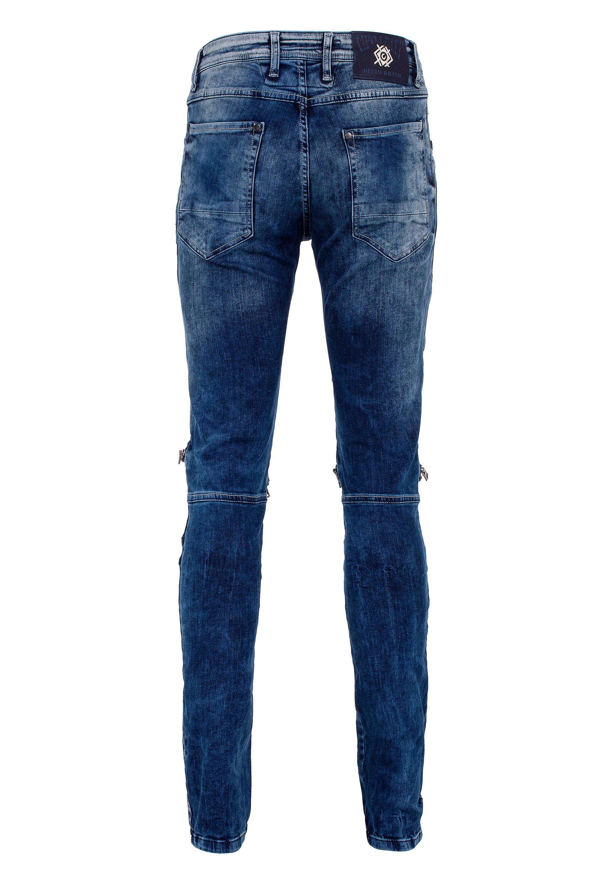 Cipo & Baxx Jeans Street Biker in Blue günstig kaufen