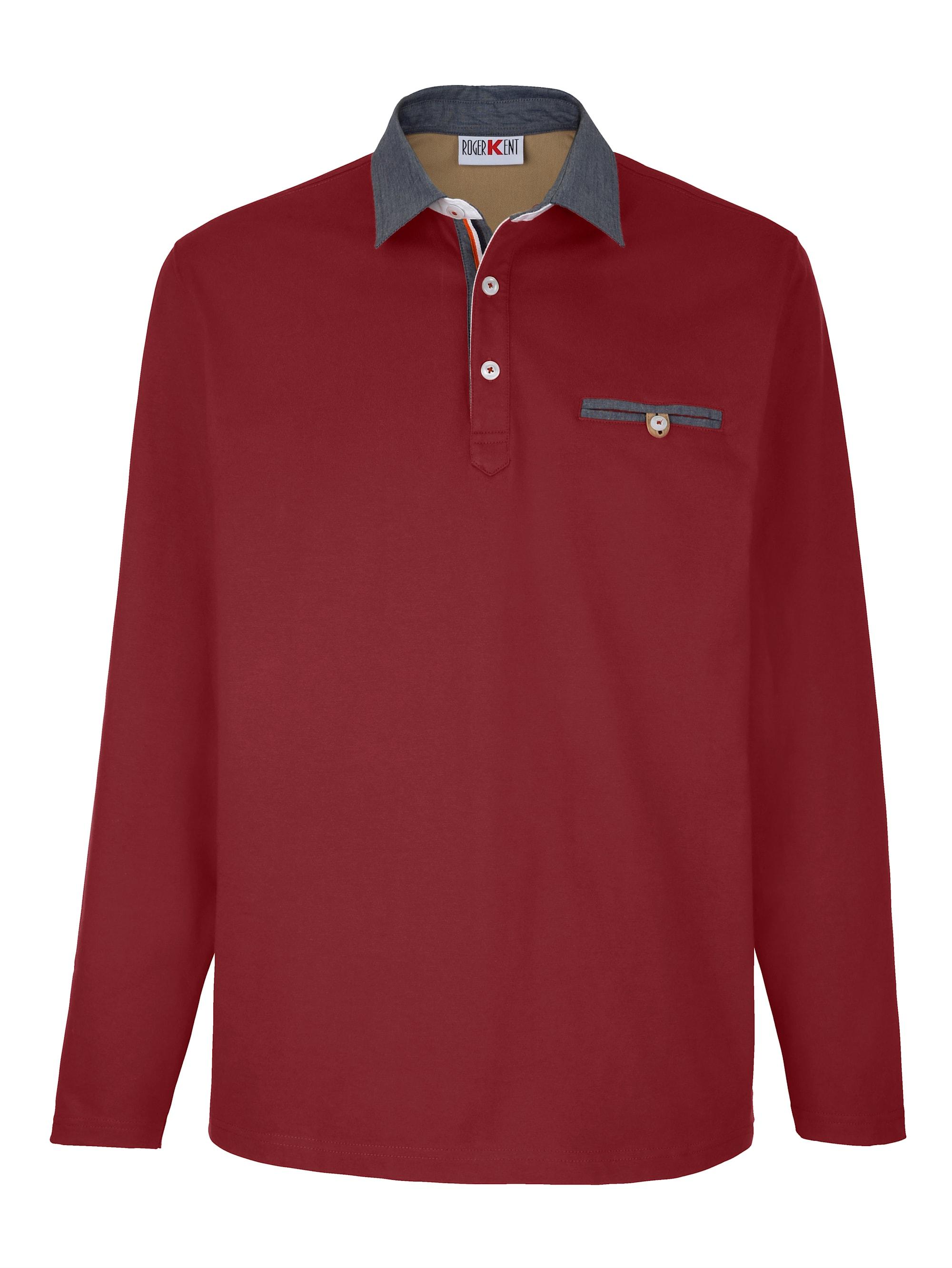 Roger Kent Poloshirt in Rot günstig kaufen