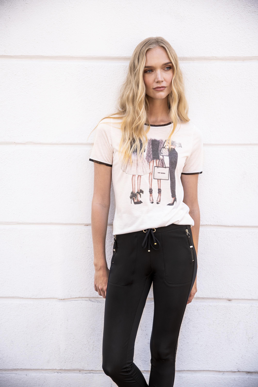 Million X - Women Damen T-Shirt Motiv in offwhite günstig kaufen