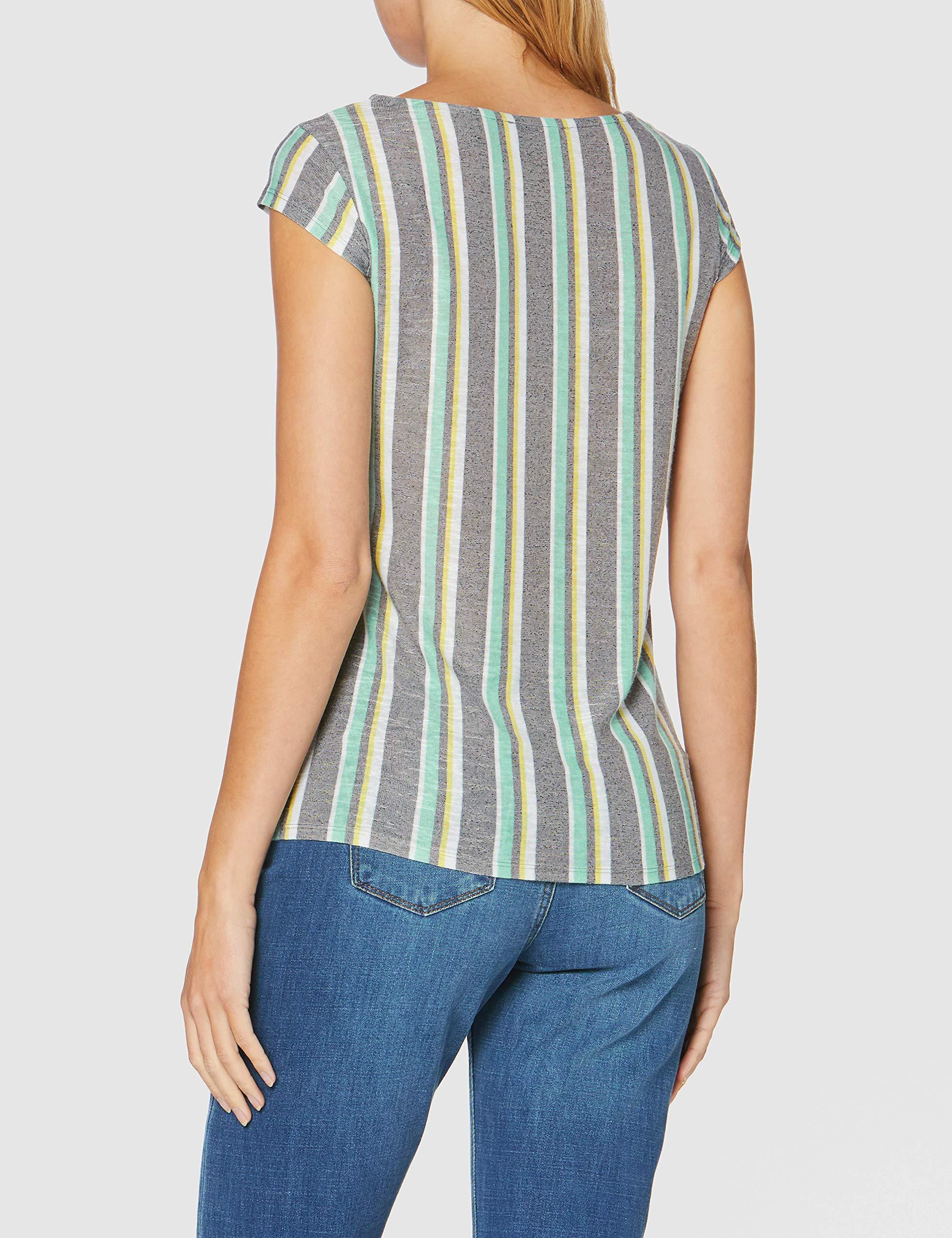 Comma Rundhals T-Shirt in weiß günstig kaufen