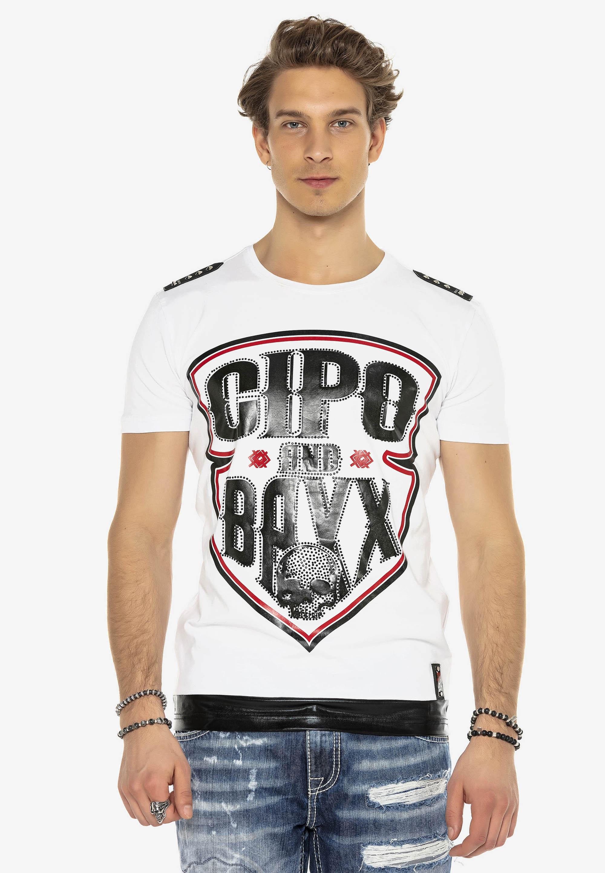 Cipo & Baxx T-Shirt Arrowhead in Weiss günstig kaufen