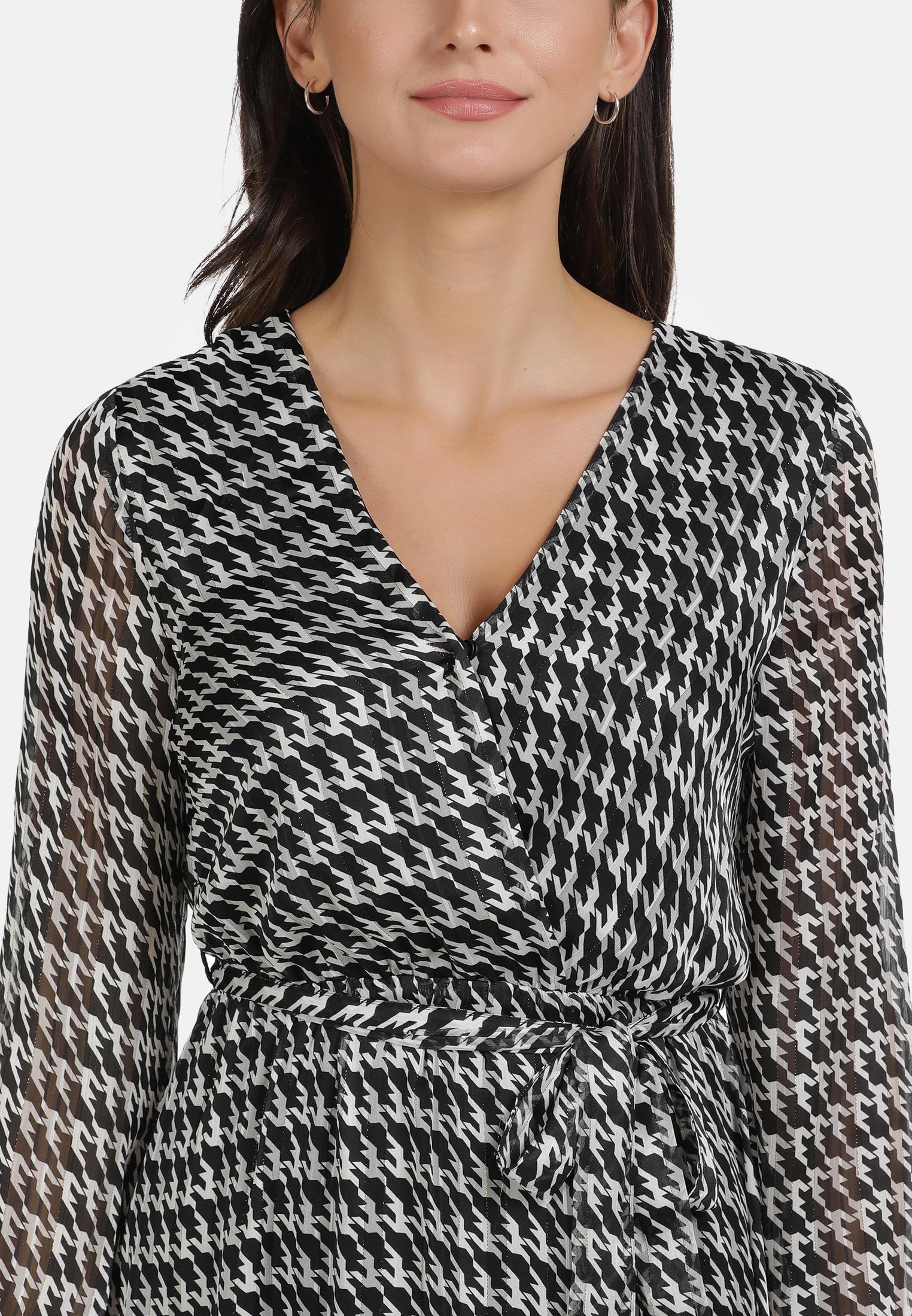 Usha BLACK LABEL Kleid in schwarz weiss günstig kaufen