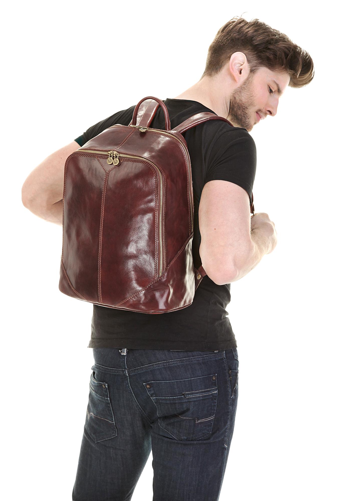 Piké City-Rucksack in braun günstig kaufen