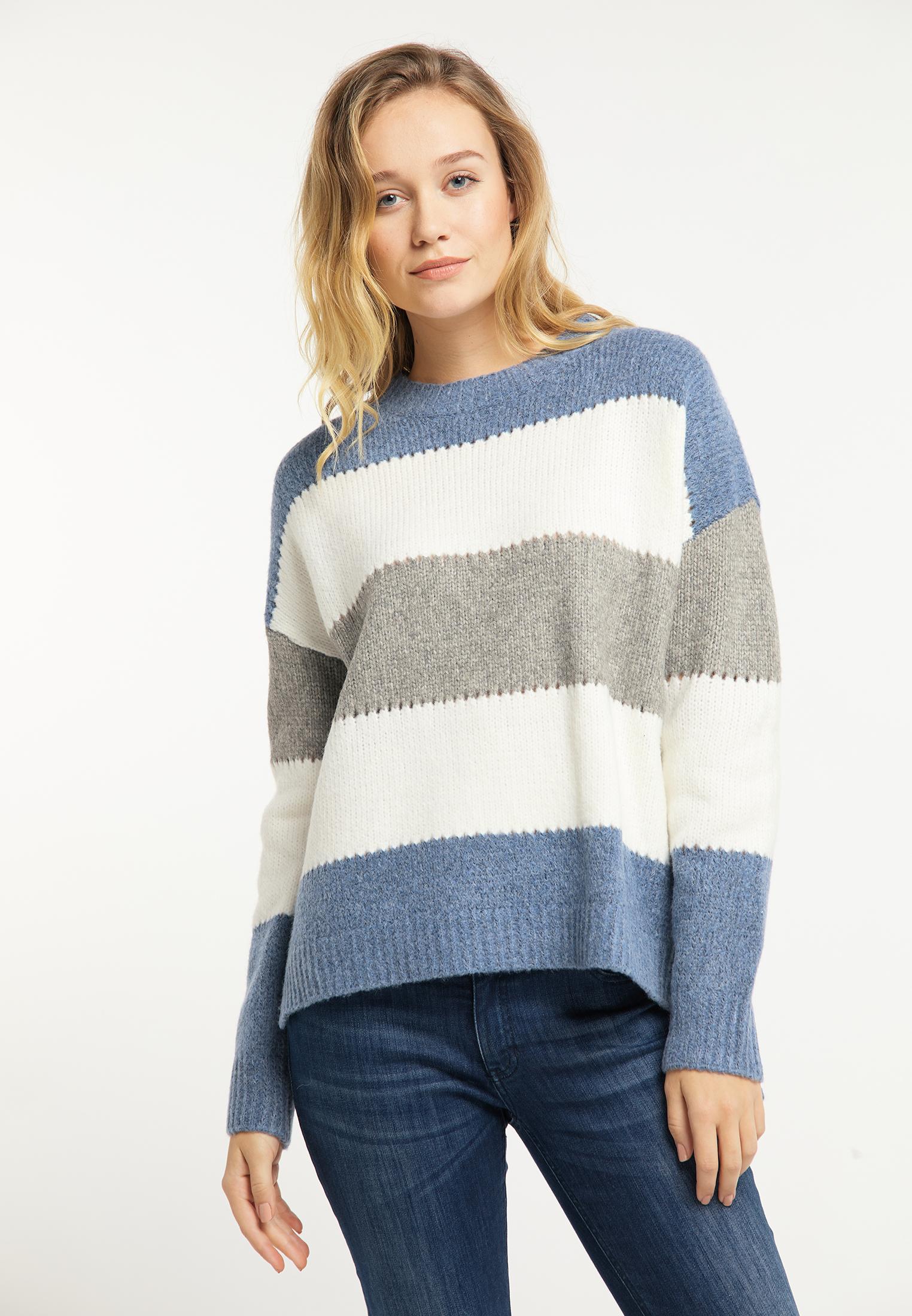 Usha Pullover in blau melange günstig kaufen