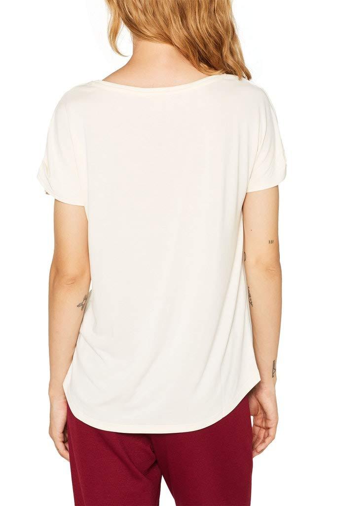 ESPRIT Rundhals T-Shirt in offwhite günstig kaufen